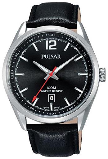 Pulsar Dress Herreur PS9519X1 Sort/Læder Ø42 mm