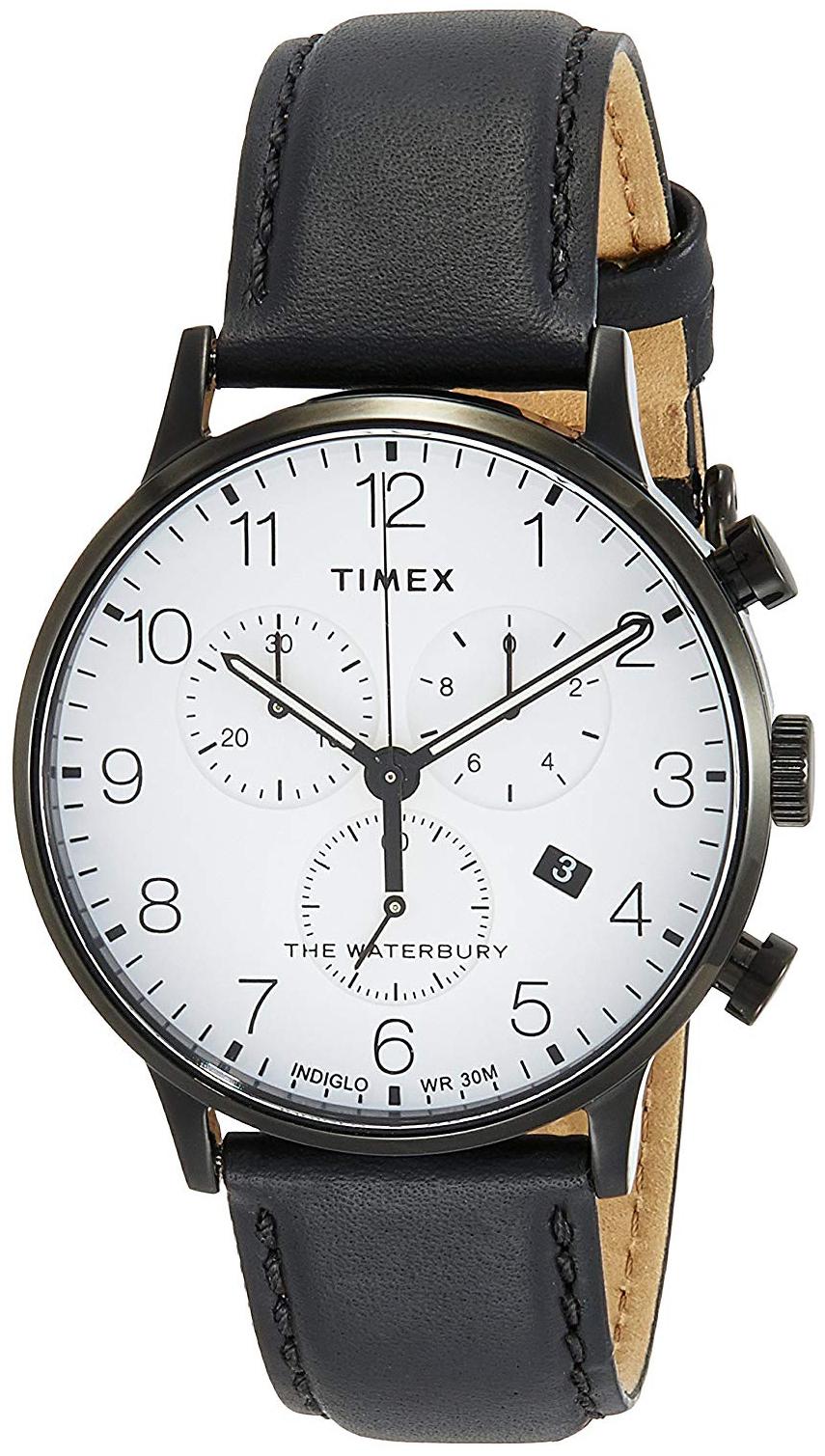 Timex 99999 Herreur TW2R72300 Hvid/Læder Ø40 mm
