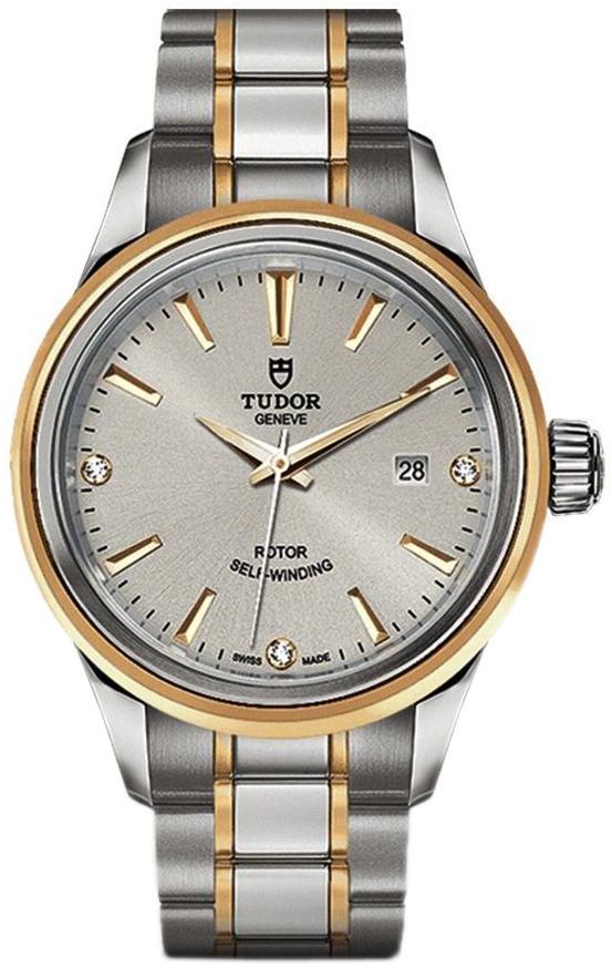 Tudor Style Dameur 12103-0005 Sølvfarvet/Gul guldtonet stål Ø28 mm