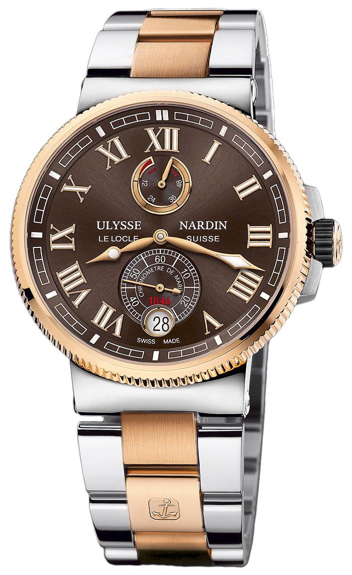 Ulysse Nardin Marine Collection Herreur 1185-126-8M-45 Brun/18 karat