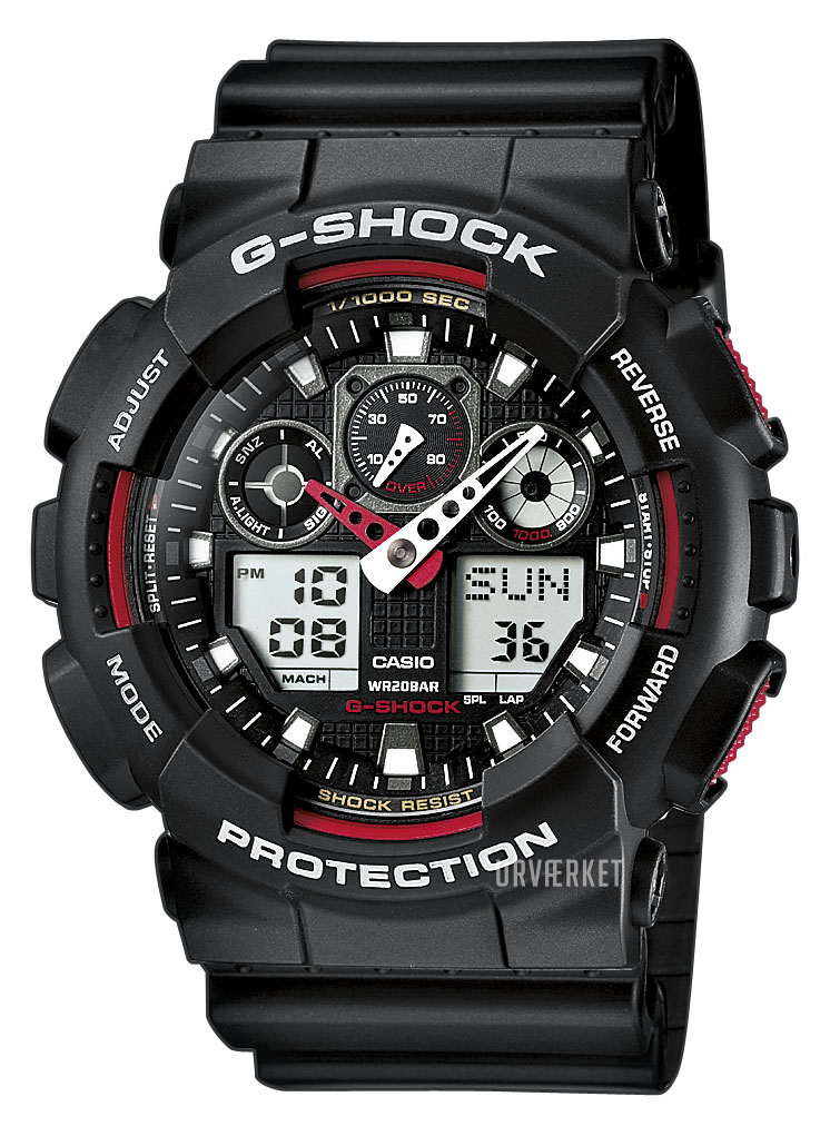 d8855643817 GA-100-1A4ER Casio G-Shock | Urvaerket.dk