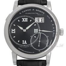 A. Lange & Söhne Lange 1 Sort/Læder Ø42 mm