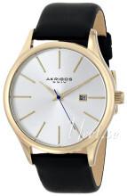 Akribos XXIV Essential Sølvfarvet/Læder