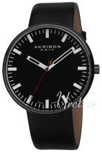 Akribos XXIV Essential Sort/Læder Ø43 mm