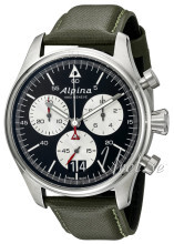 Alpina Startimer Sort/Læder Ø42 mm