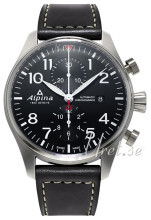 Alpina Startimer Sort/Læder Ø40 mm