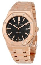 Audemars Piguet Royal Oak Sort/18 karat rosa guld Ø41 mm