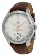Baume & Mercier Clifton Sølvfarvet/Læder