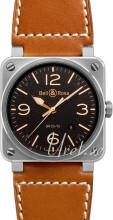 Bell & Ross BR 03-92 Sort/Læder