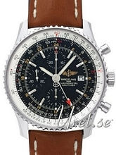Breitling Navitimer World Sort/Læder Ø46 mm