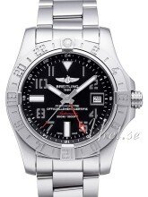 Breitling Avenger II GMT Sort/Stål Ø43 mm