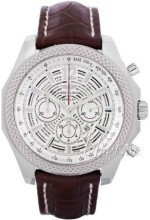 Breitling for Bentley Barnato 42 Sølvfarvet/Læder Ø42 mm