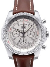 Breitling for Bentley 6.75 Sølvfarvet/Læder Ø49 mm