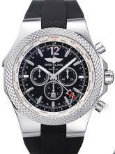 Breitling for Bentley GMT Sort/Gummi