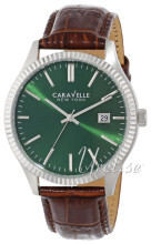 Bulova Caravelle Grøn/Læder