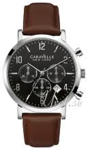 Bulova Caravelle Sort/Læder