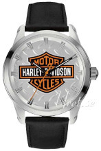 Bulova Harley-Davidson Sølvfarvet/Læder