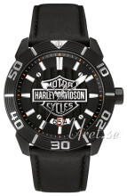 Bulova Harley-Davidson Sort/Læder