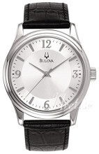 Bulova Dress Sølvfarvet/Læder