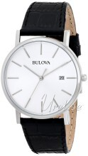 Bulova Dress Sølvfarvet/Læder Ø37 mm