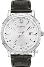 Bulova Dress Sølvfarvet/Læder Ø40 mm