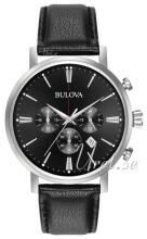 Bulova Sort/Læder
