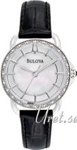 Bulova Diamond Hvid/Læder Ø30 mm