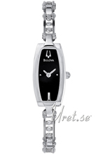 Bulova Crystals Ladies Black Dial