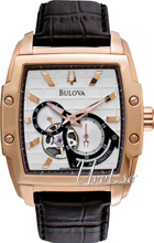 Bulova Mechanical Sølvfarvet/Læder