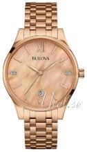 Bulova Diamond Rosa guldfarvet/Rosaguldtonet stål