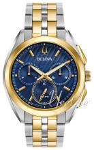 Bulova Bracelet Blå/Gul guldtonet stål Ø45 mm