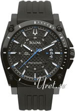 Bulova Precisionist Sort/Gummi Ø46 mm