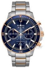 Bulova Blå/Rosaguldtonet stål Ø45 mm