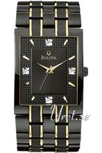 Bulova Diamonds Two Tone Black Dial