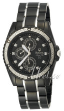 Bulova Marine Star Diamond Chronograph Black Dial