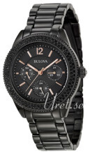 Bulova Crystal Sort/Stål