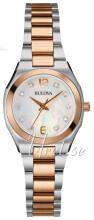 Bulova Diamond Hvid/Rosaguldtonet stål