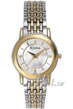 Bulova Bracelet Ladies Two Tone Silver Dial