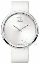 Calvin Klein Sølvfarvet/Læder