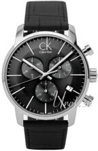 Calvin Klein City Chronograph Sort/Læder