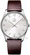 Calvin Klein Classic Sølvfarvet/Læder Ø38 mm