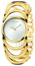 Calvin Klein Body Sølvfarvet/Gul guldtonet stål Ø30 mm