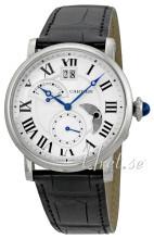Cartier Rotonde De Cartier Sølvfarvet/Læder