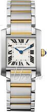 Cartier Tank Francaise Sølvfarvet/18 karat guld