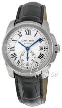 Cartier Calibre De Cartier Sølvfarvet/Læder