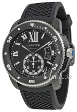 Cartier Calibre De Cartier Sort/Gummi Ø42 mm