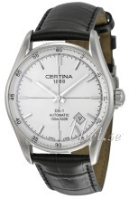 Certina DS 1 Automatic Sølvfarvet/Læder Ø39 mm