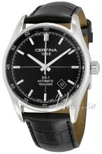 Certina DS 1 Automatic Sort/Læder Ø39 mm