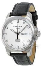 Certina DS First Gent Sølvfarvet/Læder Ø40.3 mm