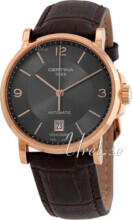 Certina DS Caimano Gent Sort/Læder Ø38 mm